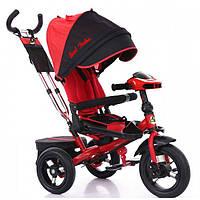 Детский трёхколёсный велосипед Best Trike 6088F красный. Фара, складной руль, поворотное сидение, пульт