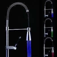 LED Ванная комната Контроль температуры смесителей Спонтанные 3 цвета Изменение температуры света Температура Датчик Смеситель для ракови