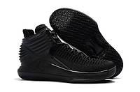"""Кроссовки Баскетбольные Jordan 32(XXXII) """"Triple Black"""", фото 1"""