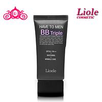 Крем от морщин омолаживающий  Lioele Have to Men BB Triple SPF30 PA++ (Whitening & Wrinkle)