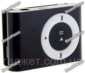 MP3 плеер алюминиевый черного цвета Наушники USB переходник