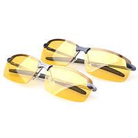 Спорт Велоспорт Вождение Очки Солнцезащитные очки против бликов Ночное видение Поляризованный Очки Черный Серый