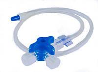Удлинитель ULTRAMED для  инфузионной терапии с 3-ходовым краником