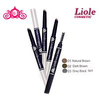 Карандаш для бровей натурально-коричневый Lioele Auto Eyebrow