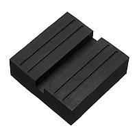 Черный Авто Универсальная резиновая шлицевая подставка для подъема тележки Jacking Block Guard Adapter