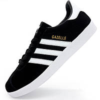 Черные мужские и женские кроссовки Adidas Gazelle Адидас Газель. р.(36, 37, 38, 39, 40)