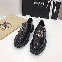Туфли комбинированные на застежках Burberry