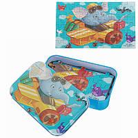 60 штук DIY Puzzle Elephant Сказка мультфильм Jigsaw с оловом Коробка Дети Дети Обучающая подарочная игрушка