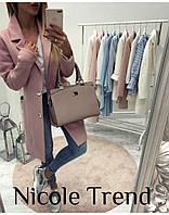 Женское стильное кашемировое пальто на подкладке с пуговицами