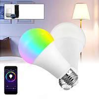 E27 9W RGBW WIFI APP Control LED Глобус Smart Light Bulb для Echo Alexa Главная страница пользователя AC85-265V