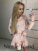 Женское нежное платье с цветочным рисунком, фото 1