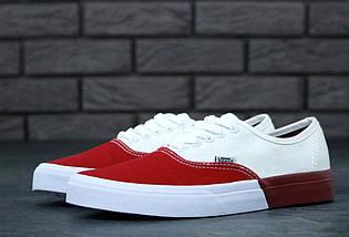 Кеды Vans AUTHENTIC White/Red, (унисекс), вансы, венсы, фото 2