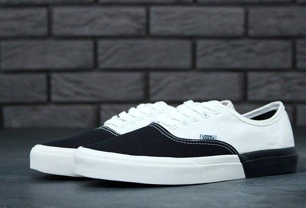 Кеды Vans AUTHENTIC White/Black, (унисекс), вансы, венсы, фото 2