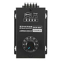 6V-90V 15A DC Мотор Регулятор скорости контроллера PWM Переключатель контроллера модуля с оболочкой