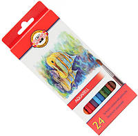 Карандаши акварельные цветные Koh-i-Noor Mondeluz Рыбки 24 цв. (2,8мм)