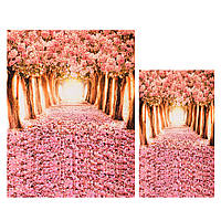 Cherry Blossom Grove Forest Тематическая фотография Vinyl Backdrop Studio Background 2x1.5m 1.5x0.9m