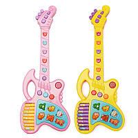 Пластиковые мультфильм Симпатичные животные Звук Гитара Дети Дети Музыка Игрушки для 3-6 лет Дети подарок
