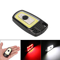 3W Mini USB перезаряжаемый COB LED Брелок Кемпинг Легкий ручной фонарик карманный фонарик