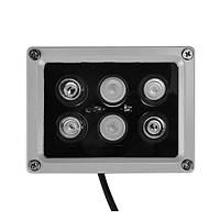 Инфракрасный свет 6 LED Ночной прицел 30M Металл IR Просветитель Лампа для охранной системы видеонаблюдения камера