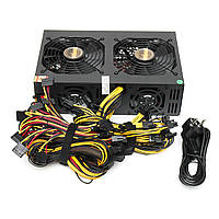 220V 3300W Miner Chassis Power Supply Coin Miner Mining Rig Machine для 12 GPU 6+2p * 12