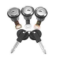 3 штук Barrel Door Замок Набор цилиндров C 2 ключа для Peugeot для Citroen Berlingo Xsara