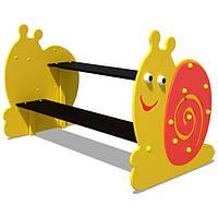 Детская скамейка PLAYBABY со столом Улитка, код: S744