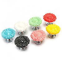 Цветок Керамический Мебель Ручки Шкаф Шкаф Шкаф для ручек для детей Спальня