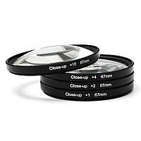 67mm Макро крупным планом Объектив Фильтры Набор+1+2+4+10 для DC DV SLR DSLR камера Оптическое стекло