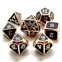 ECUBEE Solid Metal Polyhedral Кости Ролевая игра RPG 7 Кости Набор с Сумка Multisided Кости Set