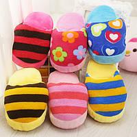 Cute Собака Toys Sound Soft Plush Тапки Pet Puppy Chew Squeak Squeak Plush Sound Toy