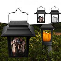 Солнечная Powered LED Свеча Свеча На открытом воздухе Сад Путь Газон света Кемпинг Висячие Лампа