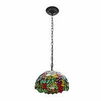 E27 Винтаж Tiffany Style Кулон Светлый витраж Потолочный подвесной потолок Лампа AC110-265V
