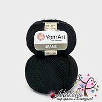 Пряжа Джинс Jeans YarnArt, №53, черный