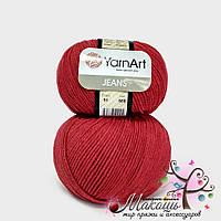 Пряжа Джинс Jeans YarnArt, №51, т. красный