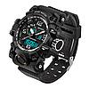 Наручные спортивные часы Sanda 2017 Relogio Masculino 742 Black