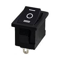 Переключатель on-off-on, черный, 3pin (6A)