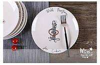 Тарелка подарочная с рисунком Выступаем за еду