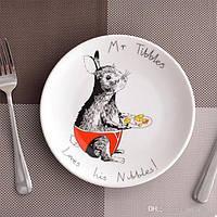 Тарелка подарочная с рисунком Любителю что-то погрызть