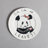 Тарелка Панда / оригинальная подарочная тарелка
