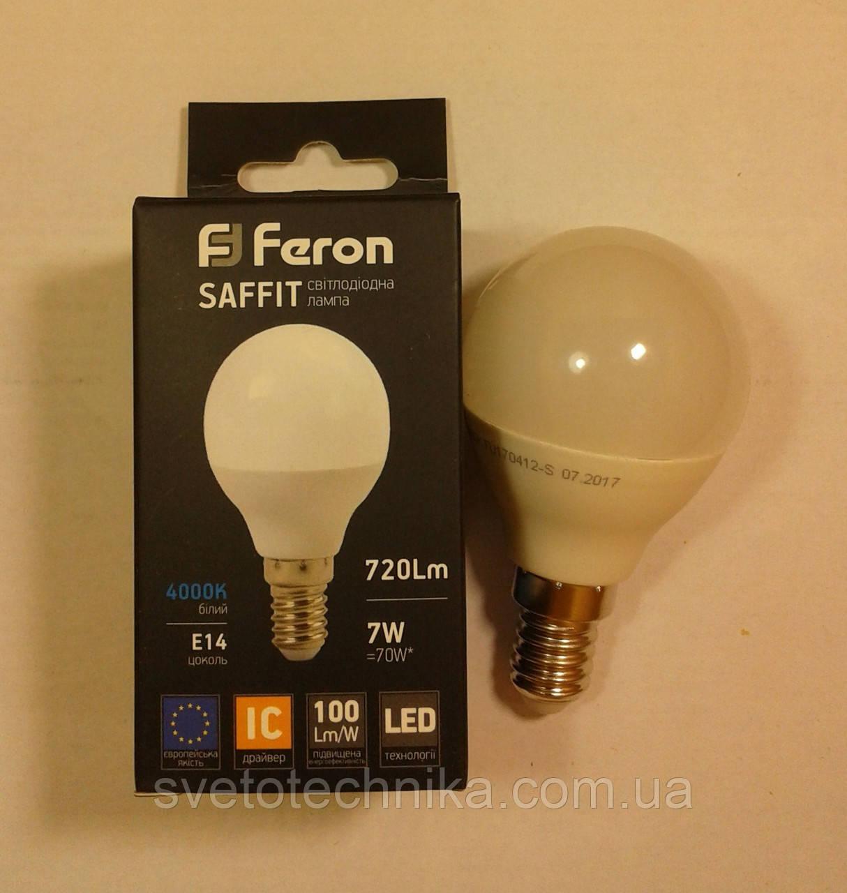 Світлодіодна лампа Feron LB195 E14 7W 4000К