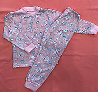Пижама для мальчиков и девочек кулир  длинный рукав