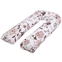 Подушка для беременных из овечьей шерсти U-образная (П-образная) 120см