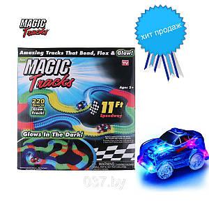 Magic Tracks 220 деталей гибкая игрушечная дорога