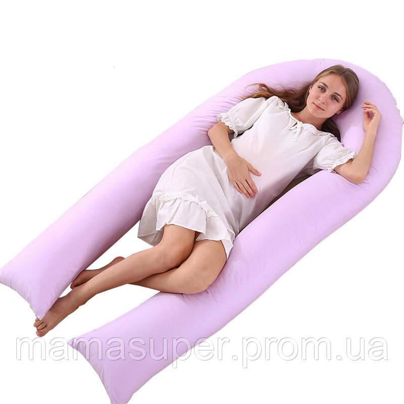 Подушка для беременных с холлофайбера U-образная (П-образная) 160см -  mamasuper 2473ae1590b