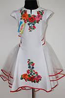 Вишита сукня для дівчинки Veronika Діана мальви біле