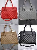 Женская сумочка в квадратик швом