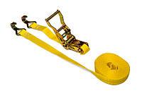 Багажная лента, 2 крюка, с трещоткой, 1т/25мм х 4м TECHNICS (52-442)