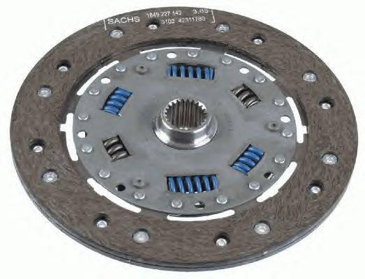 Диск сцепления  Джампер / Boxer / Ducato / Citroen C25 1.9 - 25D/TD c 1981  SASSONE 2749STИталия (228 мм), фото 2
