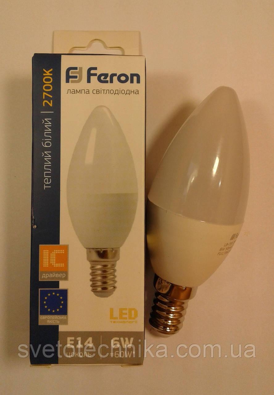 Светодиодная лампа Feron LB737  E14 6W 2700К