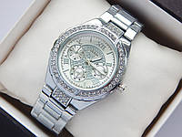 Женские наручные часы Guess стального цвета, серебристый циферблат, фото 1